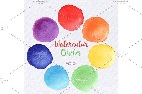 Watercolor rainbow paint stains