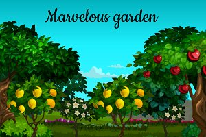Fruit and berry garden