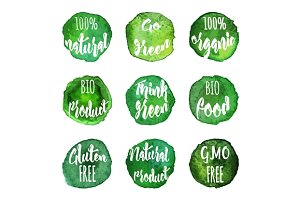 Vector organic badges, labels