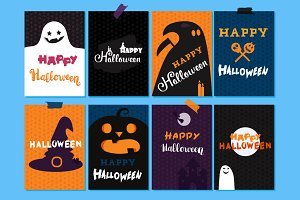 Happy Halloween Templates Set