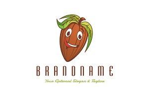Cocoa Bean Character Logo