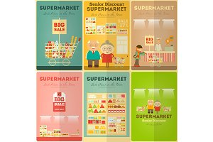 Supermarket Mini Posters Set