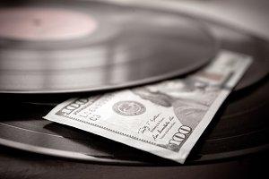 vinyl discs with a dollars