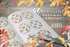 40 Autumn patterns