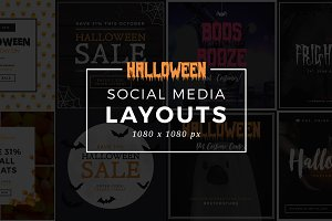 Halloween Social Media Layouts