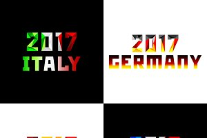 New 2017 year in flag color