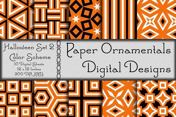 Digital Paper Halloween Set 2