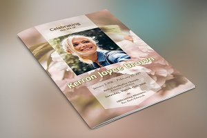 Adventure Small Funeral Program