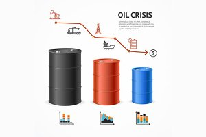 Oil Industry Crisis Graph Concept