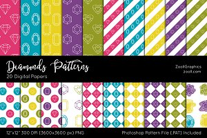 Diamonds Digital Papers