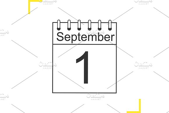 September 1st linear icon. Vector - Icons
