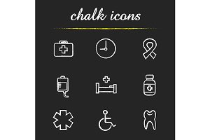 Medical. 9 icons set. Vector
