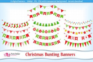 Christmas garland clipart Photos, Graphics, Fonts, Themes ...