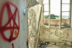 Satanic Symbols Abandoned House