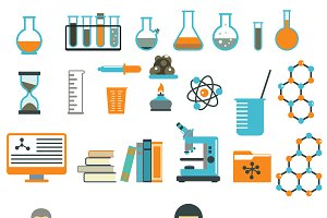 Laboratory symbols test vector