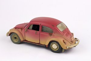 Vintage toy car Volkswagen beatle