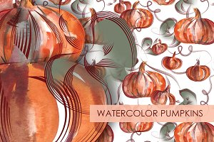 Watercolor Pumpkins Bundle
