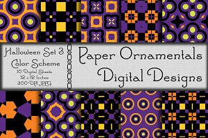 Digital Paper Halloween Set 3