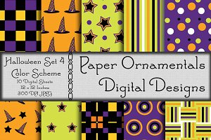 Digital Paper Halloween Set 4
