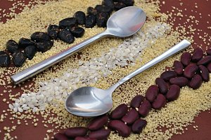 teaspoons, couscous and seeds
