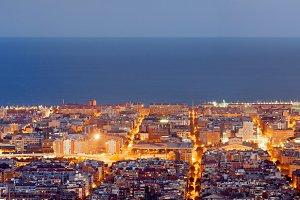 Barcelona Panorama at night