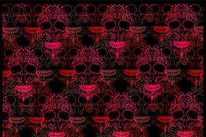 Skull background pattern pink
