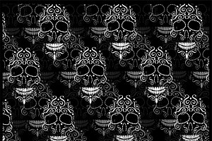 Skull vector pattern white color