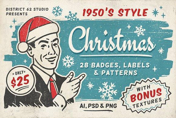 Retro Christmas Labels vol.2 - Illustrations