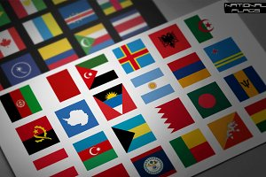 230 Square Vector Flags