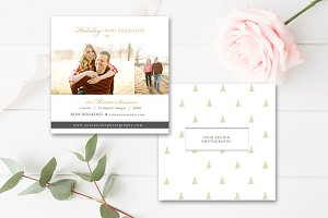 5x5 Holiday Mini Session Template