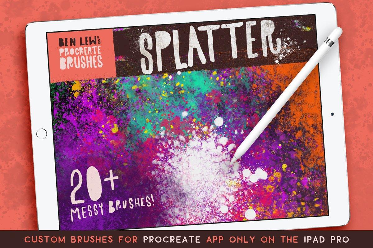 Procreate Splatter Brushes ~ Procreate Brushes ~ Creative Market