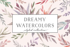 Watercolor flora. Dreamy collection