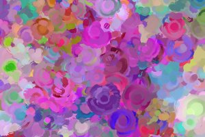 Colorful Swirl Flowers