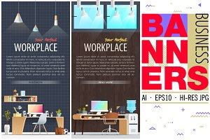 Office Workplace Banners