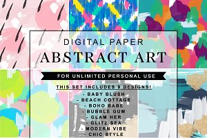 Abstract Art Watercolor Bundle