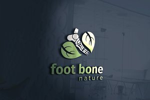Foot Bone Nature Logo