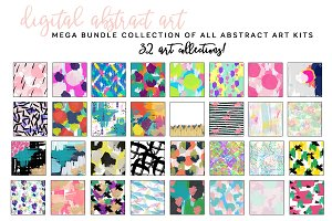 Abstract Art Background Bundle