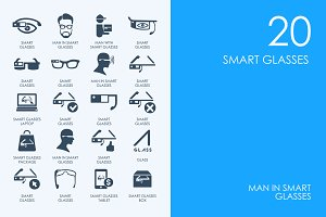 Smart glasses icons