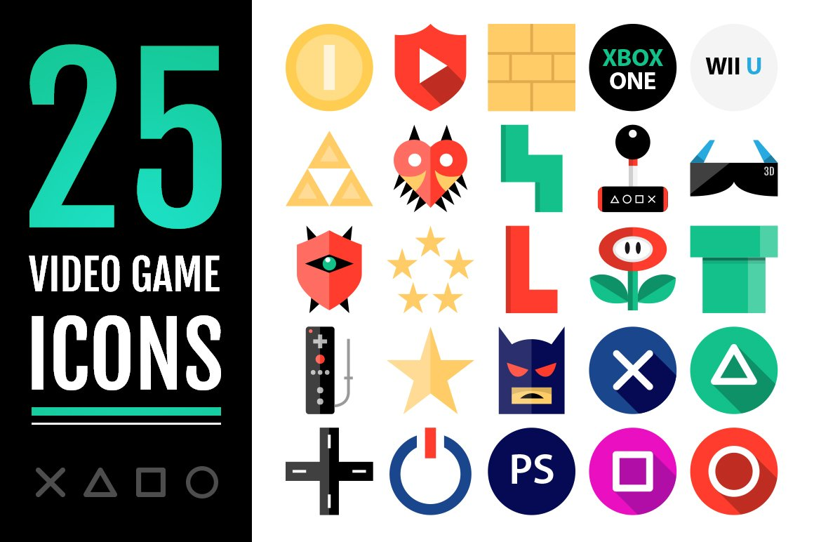 25 Video Game Icons Icons Creative Market