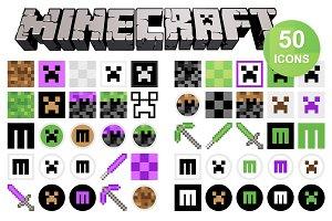 50 Minecraft Icons