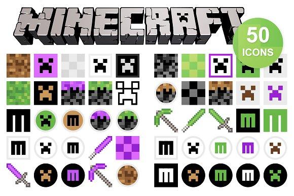 50 minecraft icons icons creative market stopboris Images