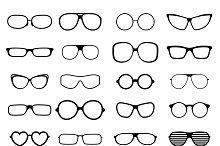 Black fashion glasses silhouette