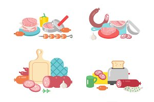Meat products ingredient preparation