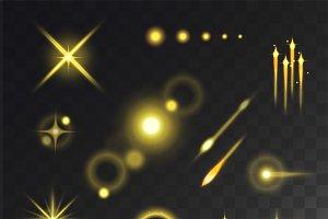 Glow effect vector