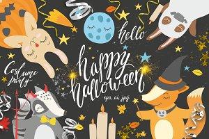 Halloween set. Vector/ png/ jpg