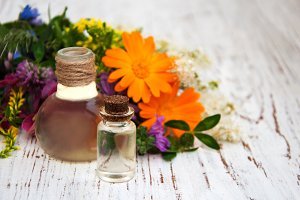 Natural oils and wildflowers