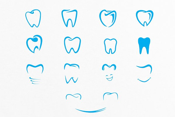 Photoshop Shapes for Graphic Design: LovePowerDesigns - Tooth Shapes For Dental Care Logos