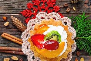 New Year 2017 fruit tart