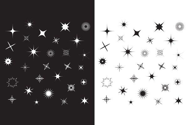 Stars Sparkles symbol set