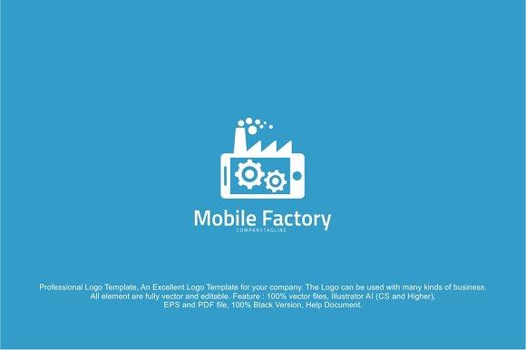 Mobile Phone Factory Logo Template ~ Logo Templates ~ Creative Market